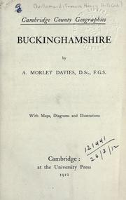 Cover of: Buckinghamshire