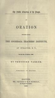 Cover of: The public education of the people