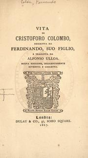 Cover of: Vita di Cristoforo Colombo