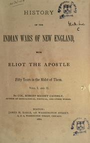 Cover of: History of the Indian wars of New England