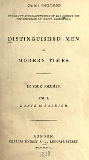 Cover of: Distinguished men of modern times