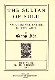 Cover of: The sultan of Sulu