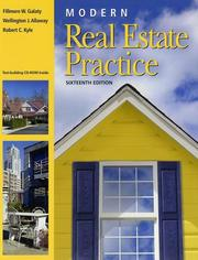 Cover of: Modern real estate practice