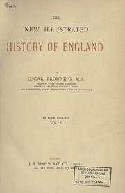 Cover of: The new illustrated history of England