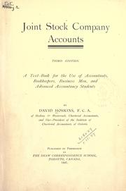 Cover of: Joint stock company accounts