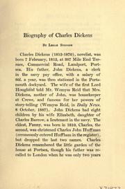 Cover of: Life of Dickens