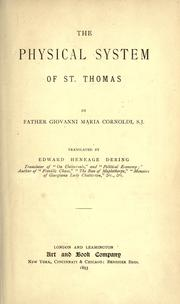 Cover of: The physical system of St. Thomas