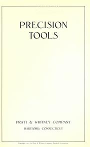 Cover of: Precision tools |