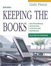 Cover of: Keeping the books | Linda Pinson