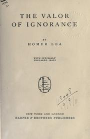 The valor of ignorance by Homer Lea