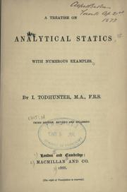 Cover of: A treatise on analytical statics, with numerous examples | J. Hamblin Smith