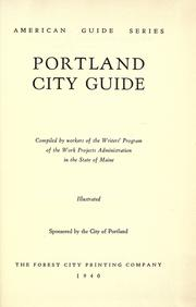 Cover of: Portland city guide by Writers' Program (U.S.). Maine.