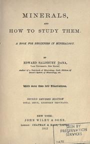 Minerals and how to study them by Edward Salisbury Dana