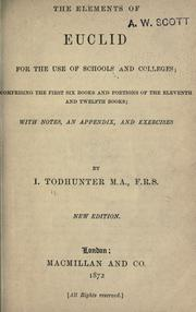 Cover of: The elements of Euclid for the use of schools and colleges
