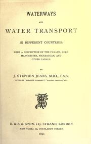 Cover of: Waterways and water transport in different countries