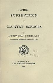 Cover of: The supervision of country schools