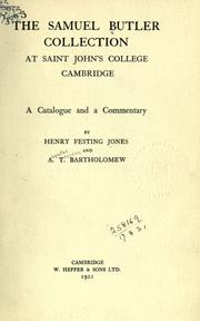Cover of: The Samuel Butler Collection at Saint John's College Cambridge