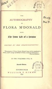 Cover of: The autobiography of Flora M'Donald
