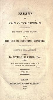 three essays on the picturesque uvedale price