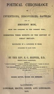 Cover of: Poetical chronology of inventions, discoveries, battles, and of eminent men, from the Conquest to the present time