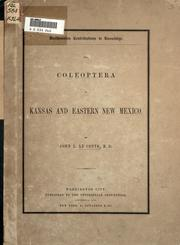 Cover of: The Coleoptera of Kansas and eastern New Mexico
