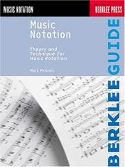 Cover of: Music Notation (Berklee Guide) | Mark McGrain