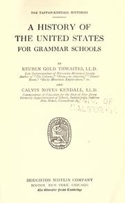 Cover of: A History of the United States for grammar schools