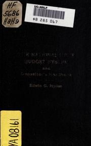 Cover of: The national home budget system and depositors' hand book ..
