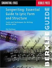 Cover of: Songwriting: Essential Guide to Lyric Form and Structure