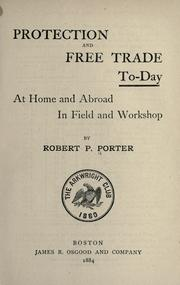 Cover of: Protection and free trade to-day