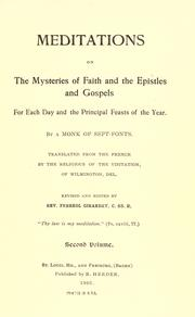 Cover of: Meditations on the mysteries of faith and the epistles and gospels