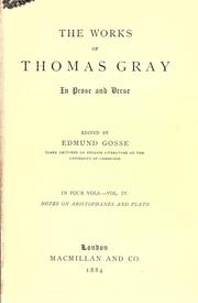 Cover of: Works in prose and verse: Edited by Edmund Gosse.