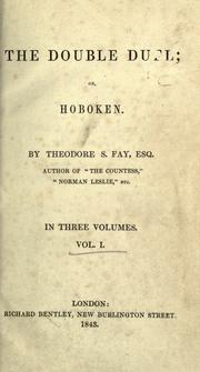 Cover of: The double duel, or, Hoboken