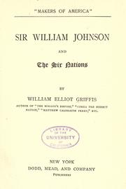 Cover of: Sir William Johnson and the six nations: Makers Of America