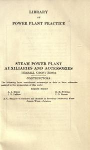 Cover of: Steam power plant auxiliaries and accessories