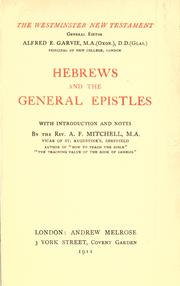 Cover of: Hebrews and the general epistles | Alexander Ferrier Mitchell