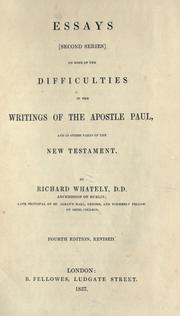 Cover of: Essays (second series) on some of the difficulties in the writings of the Apostle Paul, and in other parts of the New Testament