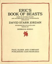 Cover of: Eric's book of beasts done in watercolors and accompanied with appropriate jingles