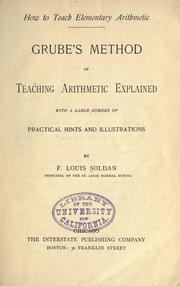 Cover of: How to teach elementary arithmetic