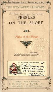 Cover of: Pebbles on the shore [by] Alpha of the plough [pseud.]