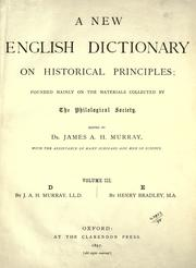 Cover of: A new English dictionary on historical principles (vol 3)