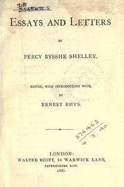 Cover of: Essays and letters