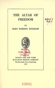 Cover of: The altar of freedom