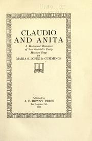 Cover of: Claudio and Anita