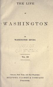 Cover of: The life of Washington