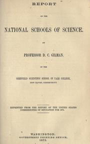 Cover of: Report on the national schools of science