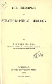 Cover of: The principles of stratigraphical geology