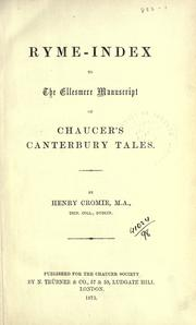 Cover of: [Publications] | Chaucer Society, London