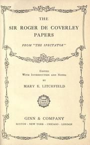 Cover of: The Sir Roger de Coverley papers