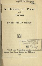 Cover of: A defence of poesie and poems